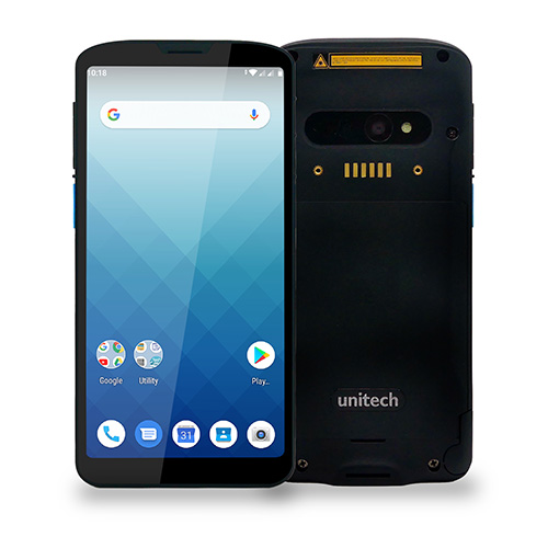 Unitech EA630,  Android 9 with GMS,  2D (N3603),  HF/NFC,  4G,  WiFi,  Bluetooth 5.0,  1.2m drop specificati