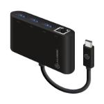 ALOGIC USB-C to Gigabit Ethernet & USB 3. 0 SuperSpeed 3 Port USB Hub - BLACK