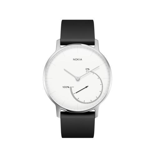 Nokia Activite Steel Wristband activity tracker Black,Stainless steel,White Analog
