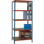 Standard Duty 900x300mm Painted Orange Shelf Unit Blue 378966
