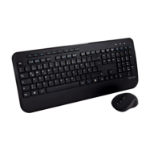 V7 CKW300DE Full Size/Palm Rest German QWERTZ - Black, Professional Wireless Keyboard and Mouse Combo – DE, Multimedia Keyboard, 6-button mouse