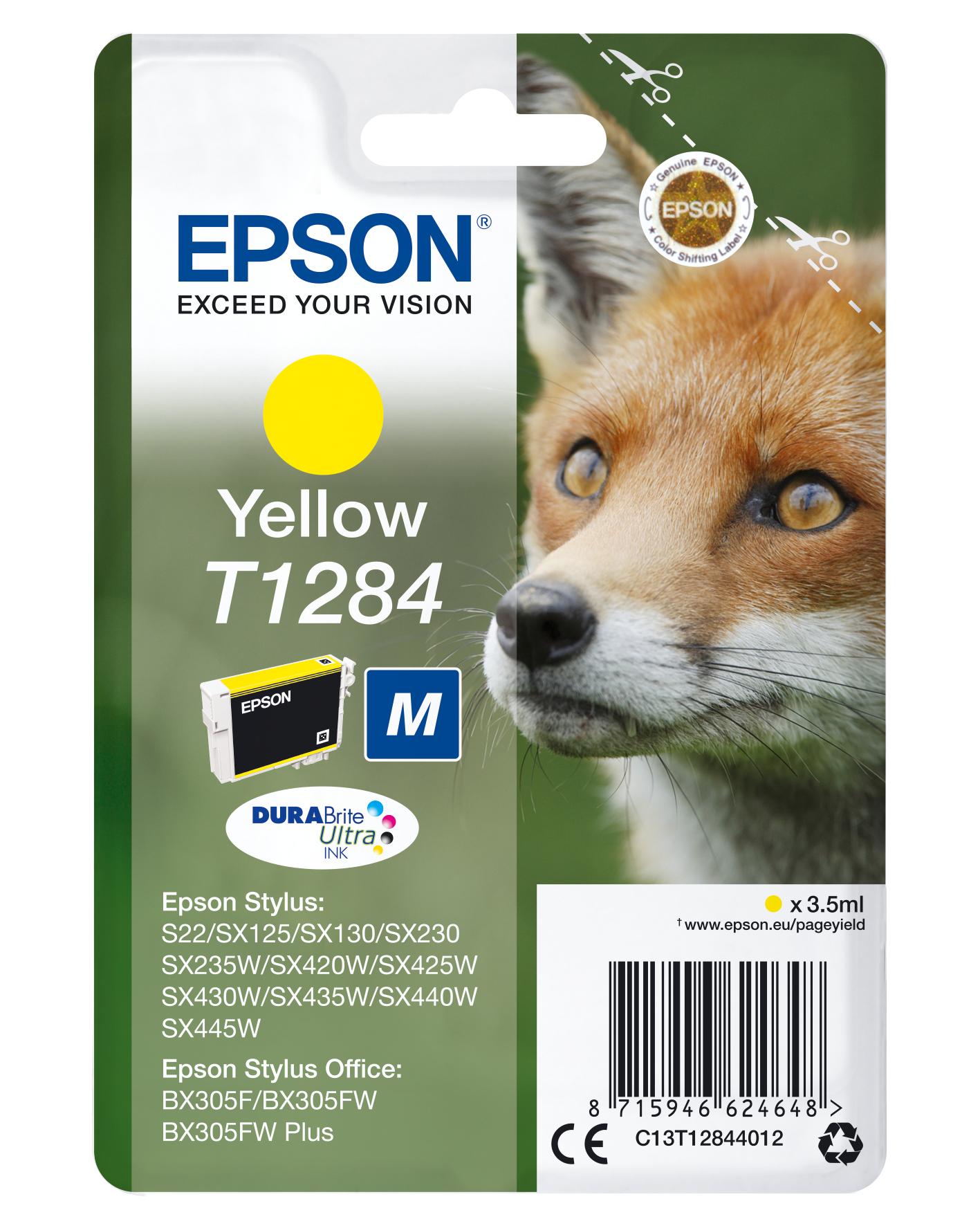 Epson Fox Cartucho T1284 amarillo (etiqueta RF)