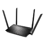 ASUS RT-AC58U V3 wireless router Dual-band (2.4 GHz / 5 GHz) Gigabit Ethernet Black
