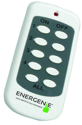 EnerGenie MIHO003 remote control Grey,White Press buttons