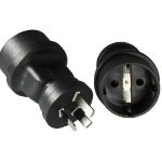 Microconnect PEAUS3PSCH Type F (Schuko) Black power plug adapter