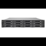 QNAP TVS-EC1280U-SAS-RP R2 Ethernet LAN Rack (2U) Zwart NAS