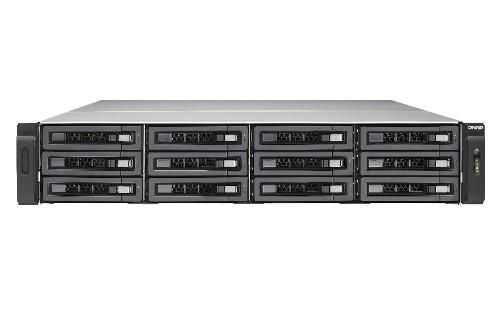 QNAP TVS-EC1280U-SAS-RP R2 Ethernet LAN Rack (2U) Black NAS