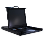 "Inter-Tech KVM-1708 rack console 43.2 cm (17"") 1280 x 1024 pixels Steel Black"