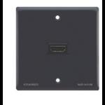 Kramer Electronics Passive Wall Plate - HDMI outlet box Black WP-H1M