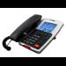 MaxCom KXT709 teléfono Teléfono analógico Negro, Blanco Identificador de llamadas