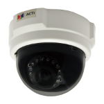 ACTi E53 IP security camera Indoor Dome Black,White security camera