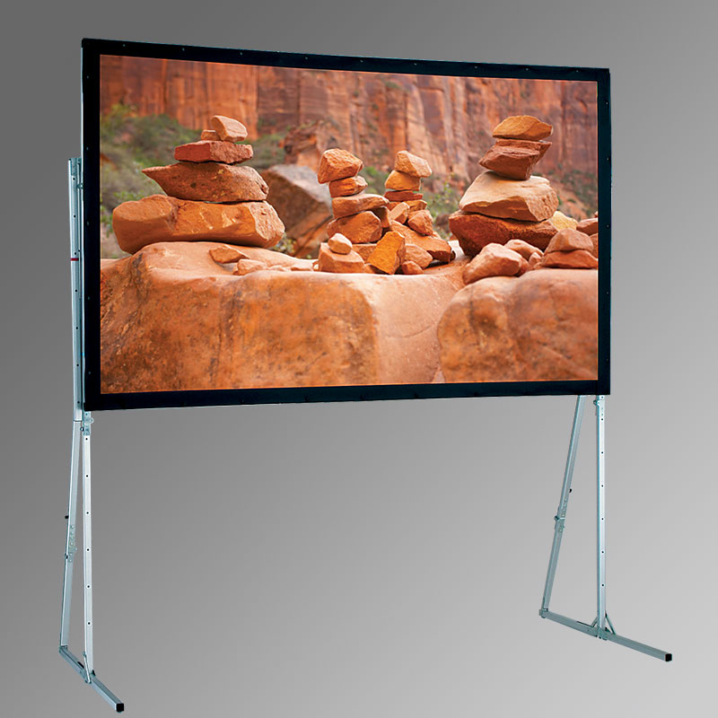 Ultimate Folding Screen Complete + Standard Legs - 291cm x 215cm - 4:3 Cineflex CH1200V Fabric - Rear Projection Complete