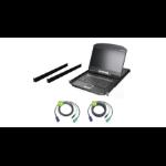 """iogear GCL1916WKITU rack console 18.5"""" 1366 x 768 pixels Metal, Plastic Black 1U"""