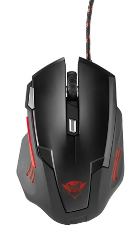 Trust GXT 111 USB 2500DPI Right-hand Black,Red mice