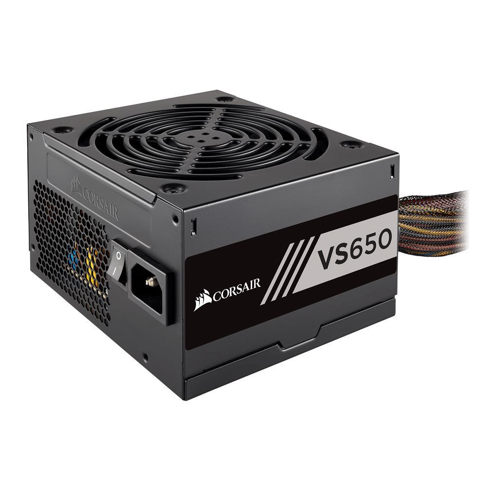 Corsair 650W VS Series V2, VS650, Active PFC, 80 PLUS White Certified Power Supply