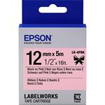 Epson C53S654031 (LK-4PBK) DirectLabel-etikettes, 12mm x 5m