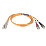 Tripp Lite Duplex Multimode 62.5/125 Fiber Patch Cable (LC/ST), 2M
