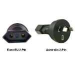 InLine Euro EU to Australia 2-Pin Power Plug Adapter