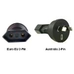 InLine Euro EU to Australia 2-Pin Power Plug Adapter
