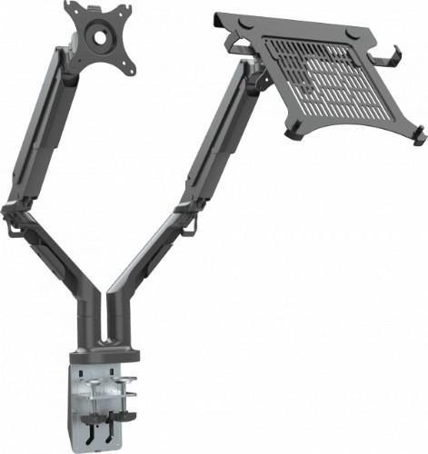 "Vision VFM-DAD3B+S flat panel desk mount 81.3 cm (32"") Clamp Black"