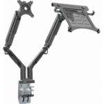 "Vision VFM-DAD3B+S monitor mount / stand 81.3 cm (32"") Clamp Black"