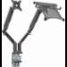"Vision VFM-DAD3B+S soporte de mesa para pantalla plana 81,3 cm (32"") Abrazadera Negro"