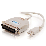 C2G 1.8m USB 1284 Parallel Cable 1.8m Beige printer cable