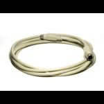 """Monoprice 93 PS/2 cable 70.9"""" (1.8 m) 6-p Mini-DIN White"""