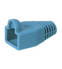 Boot RJ45 Plug. OD6.5mm. Blue. 10pcs