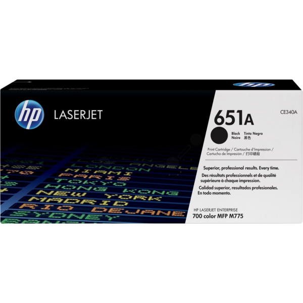 HP CE340A (651A) Toner black, 13.5K pages