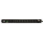 Tripp Lite PDUMH20HV 3.7kW Single-Phase Metered PDU, 208/230V (8 C13 & 2 C19), C20 / L6-20P Adapter, 12 ft. (3.66 m) Cord, 1U Rack-Mount, TAA
