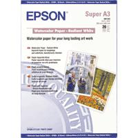 Epson WaterColor Paper - Radiant White, DIN A3+, 190g/m², 20 Sheets