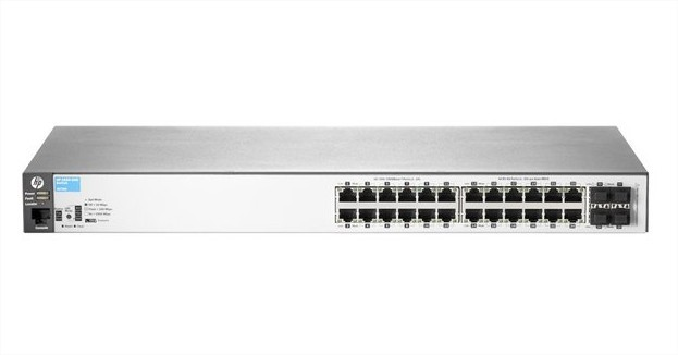 HP E 2530-24G 24 Ports Manageable Ethernet Switch - 2 Layer Supported - 1U High - Rack-mountable, Wall