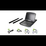 """iogear GCL1908W rack console 18.5"""" 1366 x 768 pixels Metal, Plastic Black 1U"""