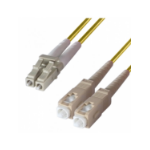 DP Building Systems 9-DX-LC-SC-1-YW fiber optic cable 1 m OS2 Yellow