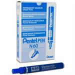 Pentel N 60 Chisel tip Blue 12pc(s) permanent marker