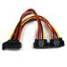 StarTech.com Cable 0,15m Adaptador Bifurcador Divisor Splitter Alimentación SATA Latching Cierre Pestillo - 2x Hembra