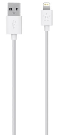Belkin F8J023BT03-WHT 1m USB A Lightning White mobile phone cable