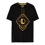 LEAGUE OF LEGENDS Logo Core T-Shirt, Male, Large, Black (TS881481LOL-L)