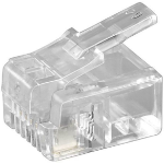 Microconnect KON501-10 wire connector RJ11 Transparent