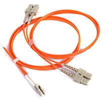 PeakOptical MTP/PC(F)-4xLC/PC, OM3, 3m fibre optic cable