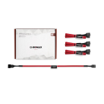 Noctua NA-SEC1 Chromax.Red 30cm 4Pin PWM Power Extension Cables (4 Pack)