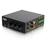 C2G 40881 audio amplifier Home Black