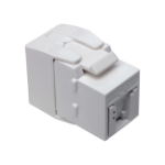 Tripp Lite Keystone Jack Cat6/Cat5e, RJ45, Shuttered, Dust Cap - Toolless, PoE/PoE+ Compliant, White, TAA
