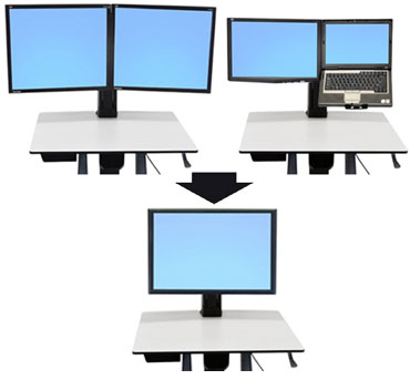 "Ergotron WorkFit Convert-to-Single HD Kit from Dual or LCD & Laptop 76.2 cm (30"")"