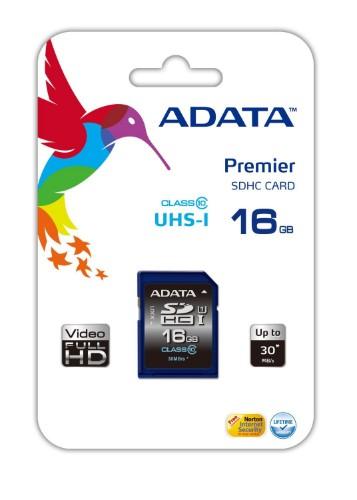 ADATA Premier SDHC UHS-I U1 Class10 16GB memory card