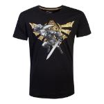 Nintendo Legend of Zelda Hyrule Link T-Shirt, Male, Medium, Black (TS753648ZEL-M)