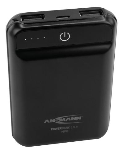 Ansmann 10.8 mini power bank Black Lithium Polymer (LiPo) 10000 mAh