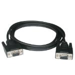 C2G 1m DB9 F/F Null Modem Cable - Black