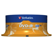 Verbatim DVD-R Matt Silver 4.7GB DVD-R AZO 25pc(s)